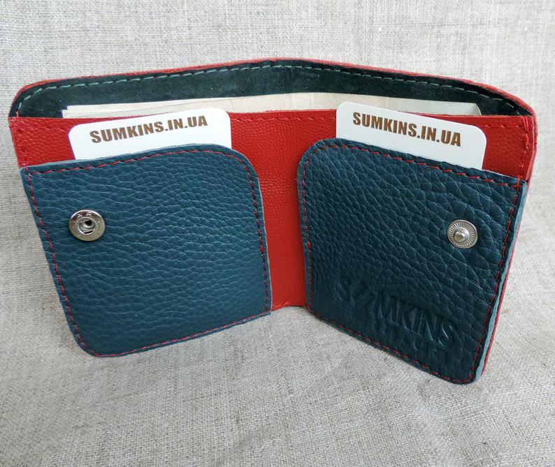 Small red leather wallet for women Card holder Foldable purse cards wallet coin purse minimalist slim cash wallet        Update your settings