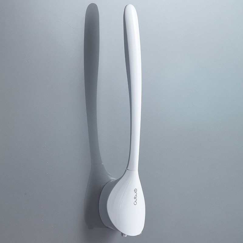 TPR Silicone Brush Head Bath Brush Reaches Every Corner Bath Brush Wash Creative Wall Mounted Home Bathroom Cleaning