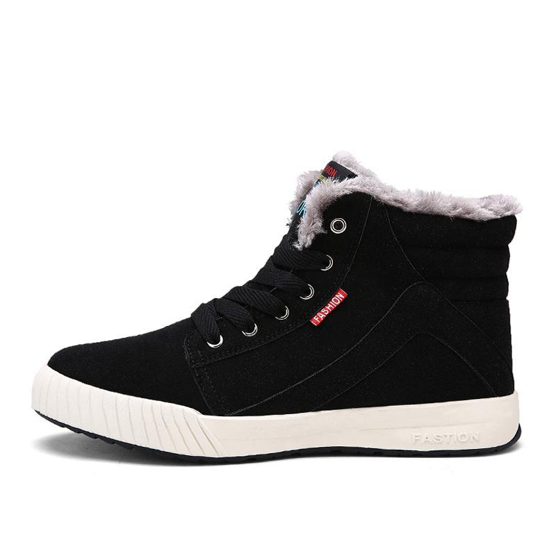 Men's Winter Fur Lined  High Top Sneakers Boots
