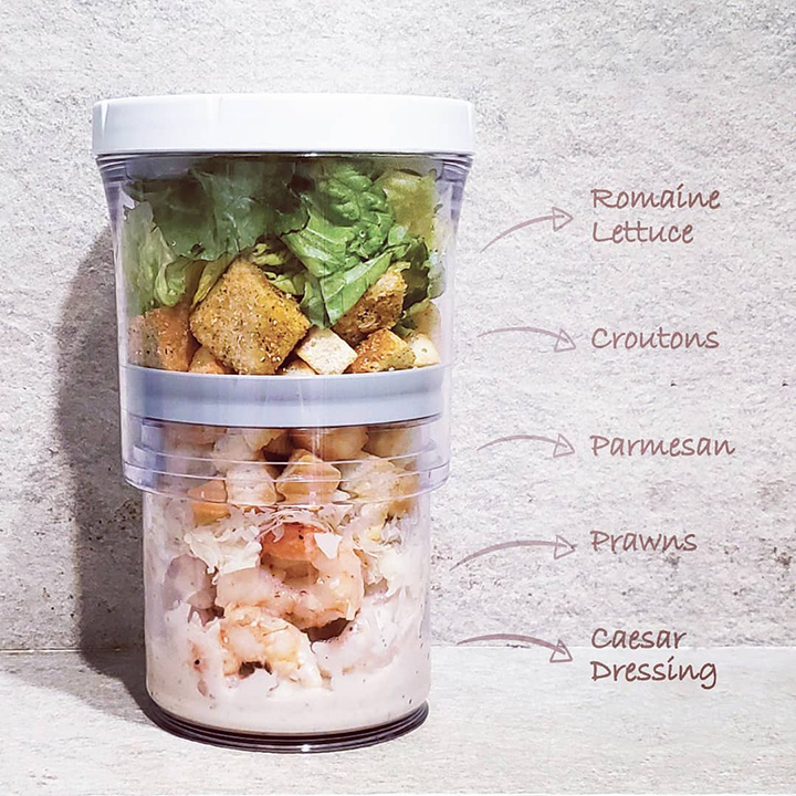 The Adjustable Container 1.0 Original (Clear) Just Press & Store