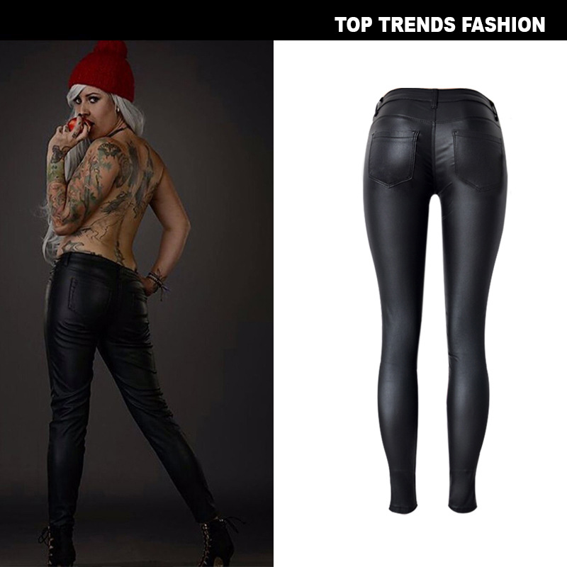 FREE SHIPPING-Women's Skinny Leather Pants