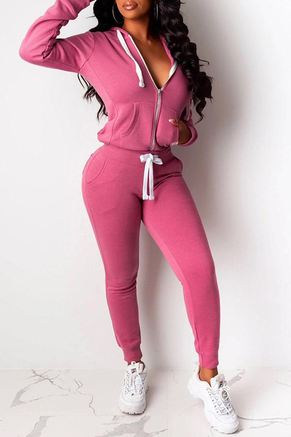 Casual Long Sleeve Pants Two-piece Suit