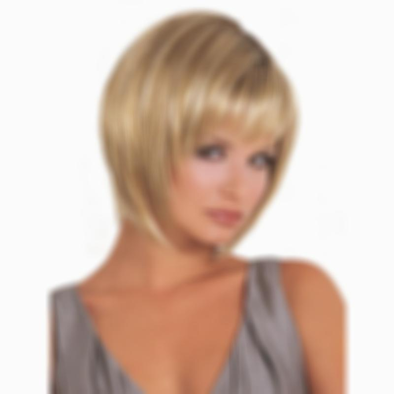 KAMI 156 Golden Straight Lady Boss Sexy Pixit Wigs with Bangs