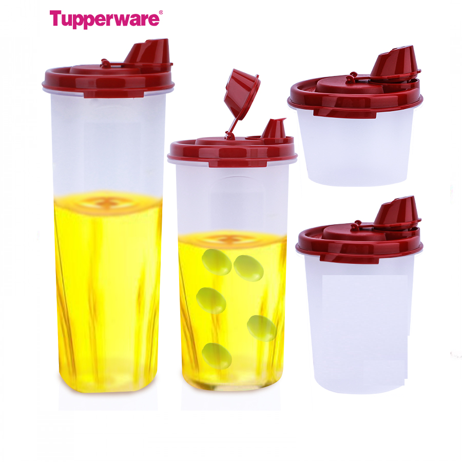 Tupperware Magic Flow Set (1.1Ltrs, 650ml, 440ml, 200ml) - Super Combo Pack