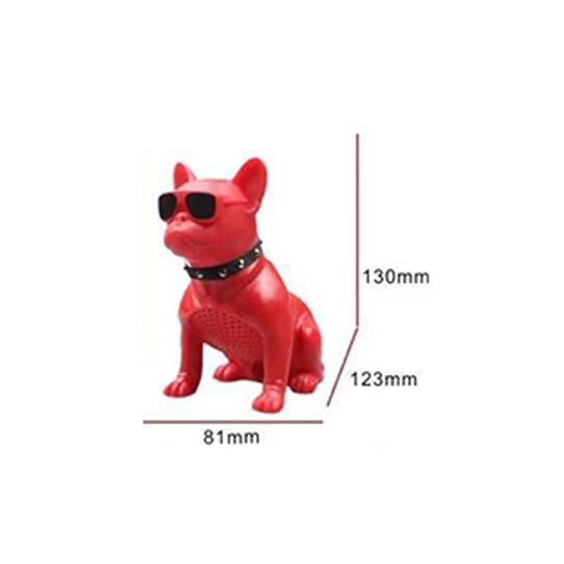 New Professional Mini Touch HIFI French Bulldog Fullbody Wireless Stereo Speaker Blutooth 4.1 Super Bass Soundbar FM/TF Card Phone Music Player