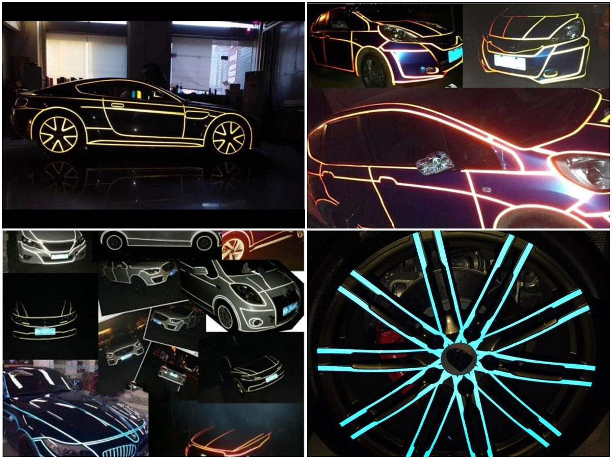 Buy 3 Get 1 Free >>>Latest Colorful Car Reflective Sticker PVC Warning