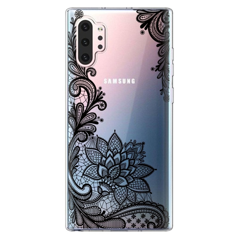 3D Lace Rose Flower Floral Phone Case Cover For Samsung A20E A10 A30 A40 A50 A70 S10Plus S10e S10 S10(5G) Note10 Note10 Pro For iPhone XsMax Xs Xr X Back Cover For Huawei P30Pro P30Lite P30 P20Pro P20Lite Etc