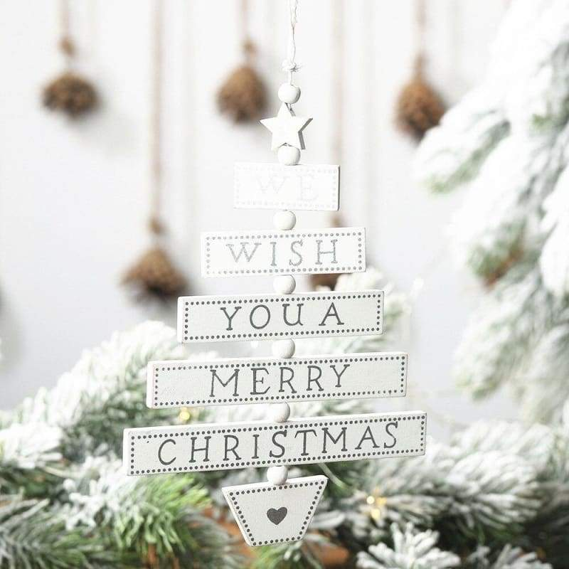 1PC Merry Christmas Letter Pendants Ornaments Wooden Christmas Party Door/Wall Xmas Tree Hanging Ornament Wood Crafts Decoration