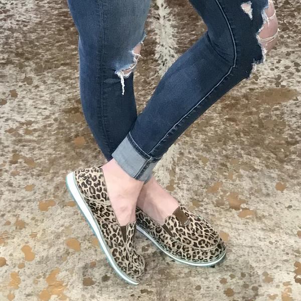 Vickymdoa Faux Leather Tool Casual Flats