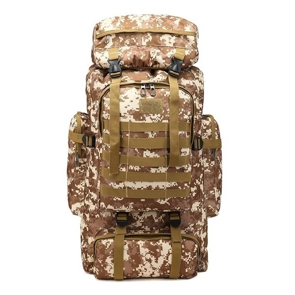 2019 New Fashion 80L High Capacity Military Rucksack Camouflage Backpack Military Mochila Men's Tactical Backpack 6 Colors