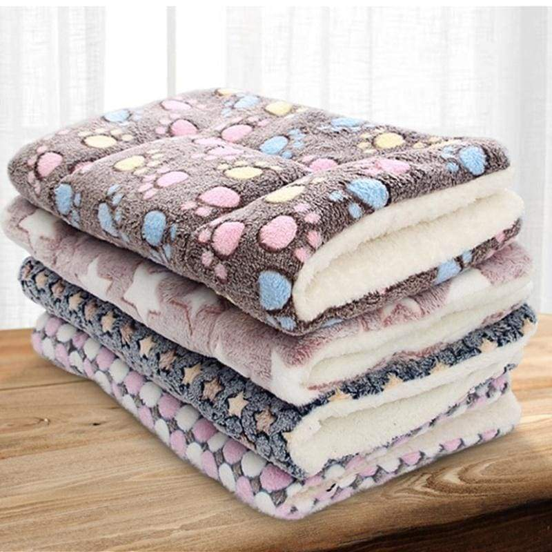 Soft Flannel Pet Mat Dog Bed Winter Thicken Warm Cat Blanket Puppy Sleeping Cover Towel Cushion