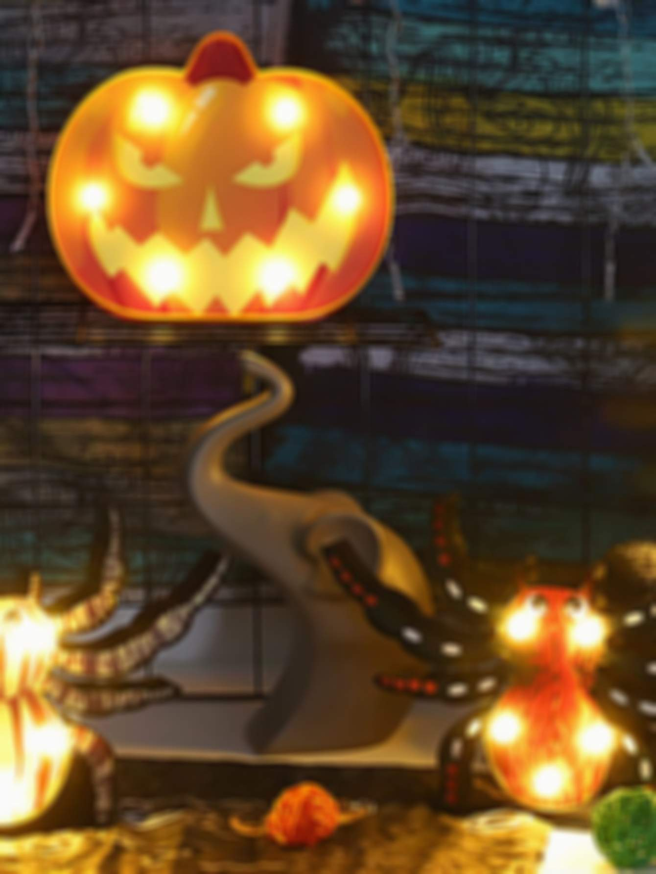 1pc Halloween Pumpkin & Skull Decorative Light