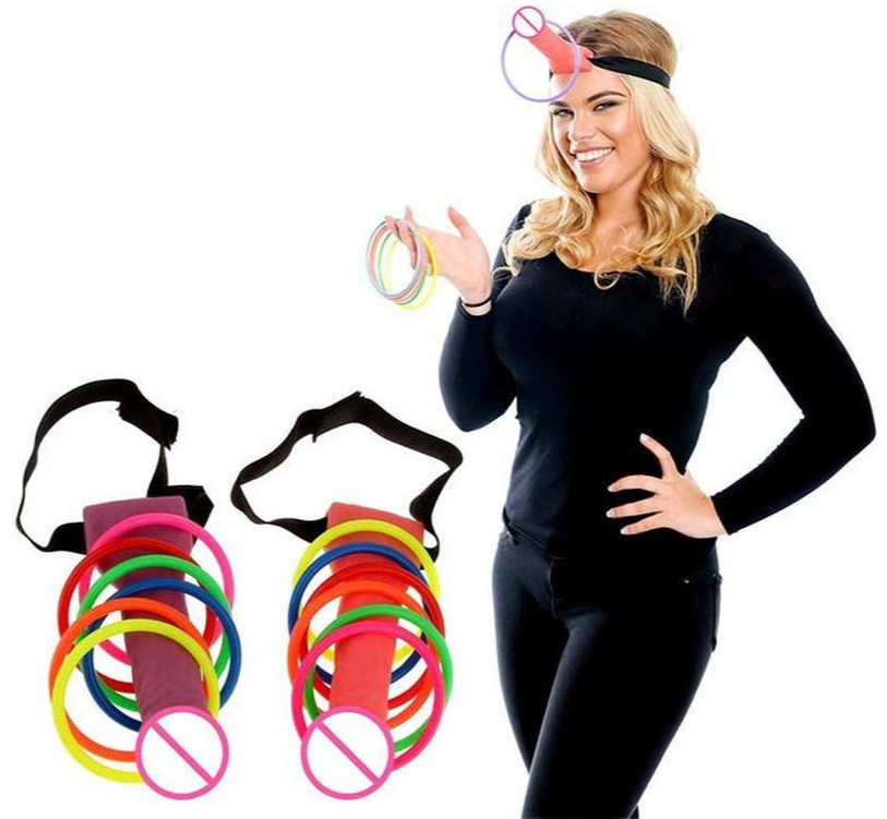 Dick Head Hoopla Ring Toss Bachelorette Party Game Includes