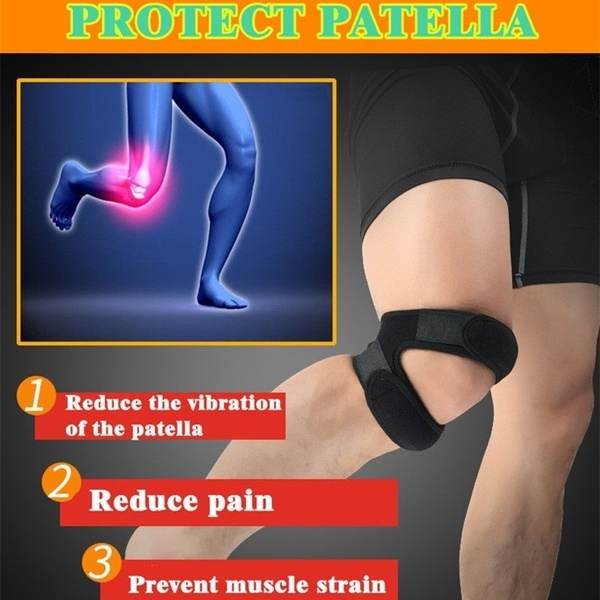 1 Piece Patella Support Brace Knee Pad Strap Knee Brace Protector Basketball Running Cycling Volleyball