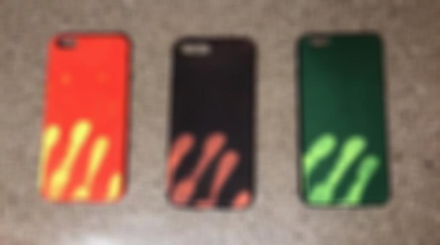 Awesome Thermal Sensor Color Changed Iphone Case