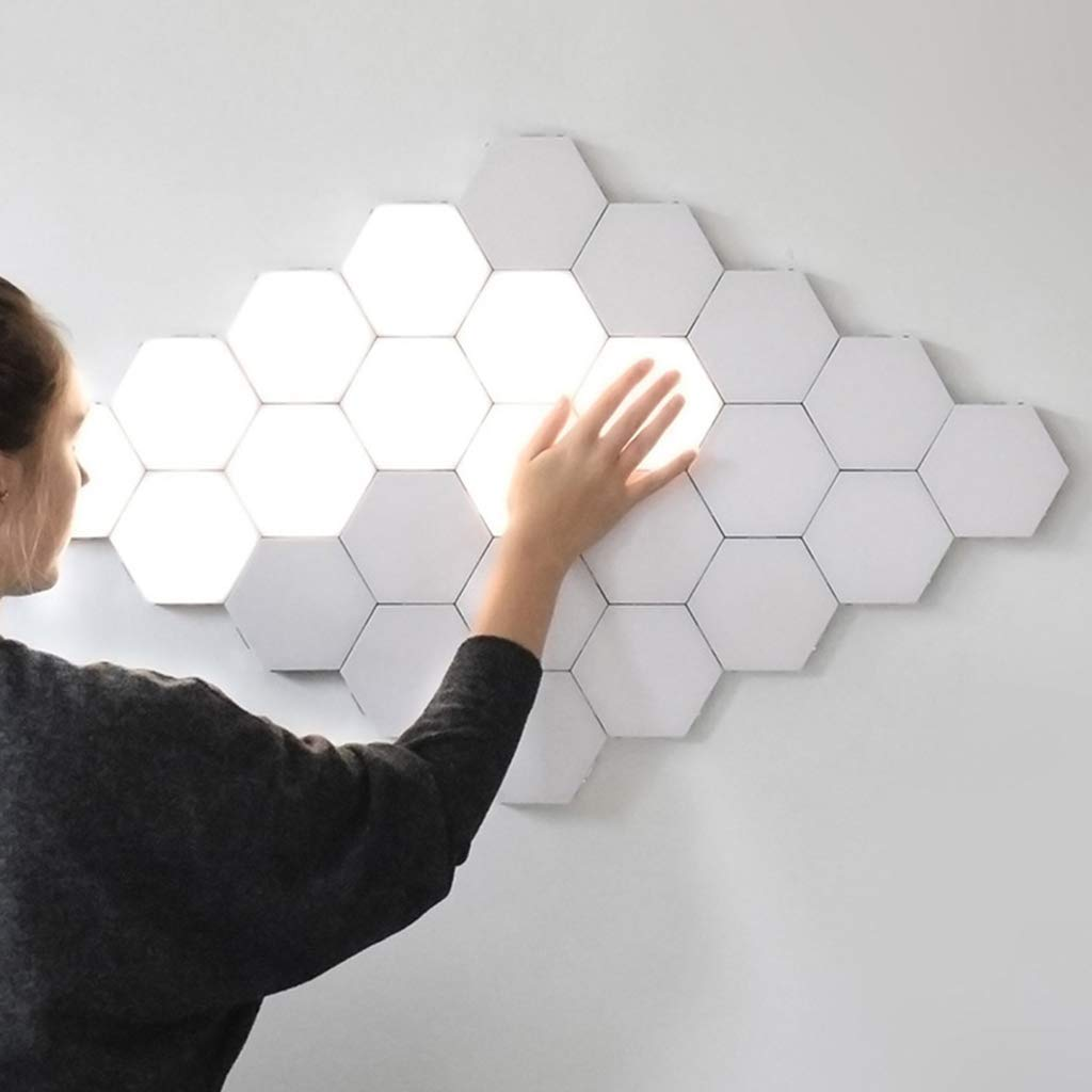 Creative Art Hexagonal Lamp Induction Lamp Background Wall Lights
