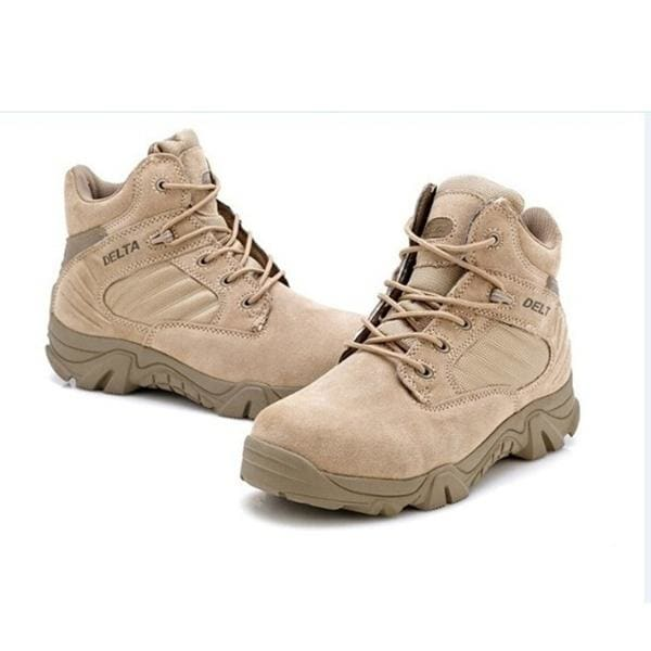 Delta Brand Mens Military Tactical Boots Desert Combat Outdoor Army Travel Tacticos Botas Shoes Leather Autumn Ankle