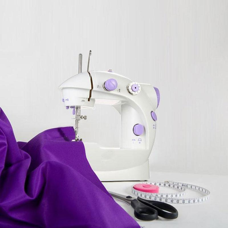 Handheld Adjustable Speeds Compact Portable Sewing Machine with Foot Pedal