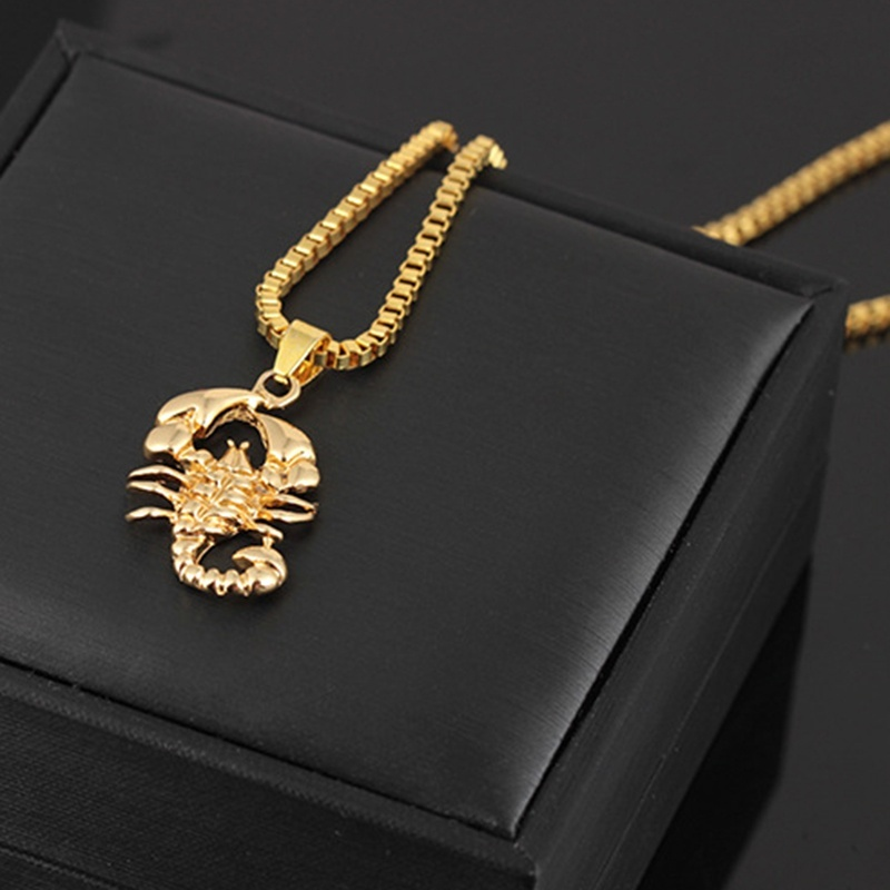 Creative Jewelry 18K Gold Plated Scorpion Pendant Necklace Punk Necklace For Men Women