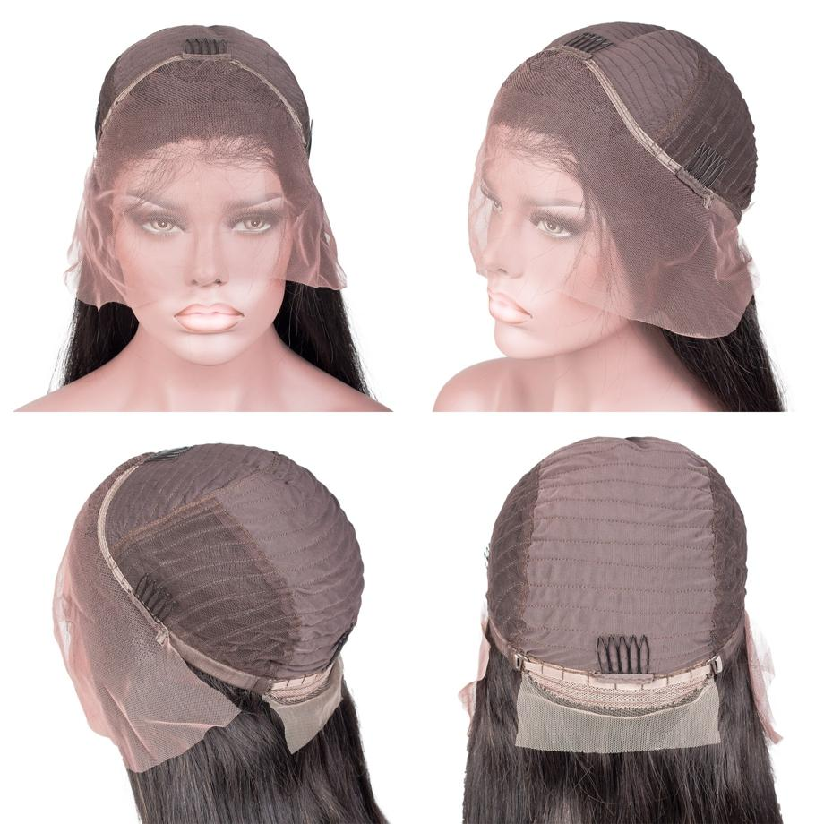 Lace Front Black Wig platinum blonde wig with black roots 30 inch brazilian full lace wig