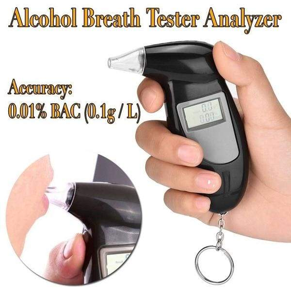 Professional Alcohol Breath Tester Analyzer Lie Detector Breathalyser LCD Screen No Backlight