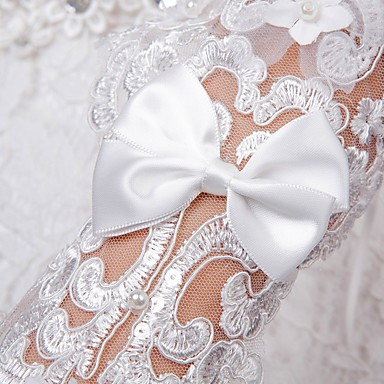 Lace Opera Length Glove Lace With Trim