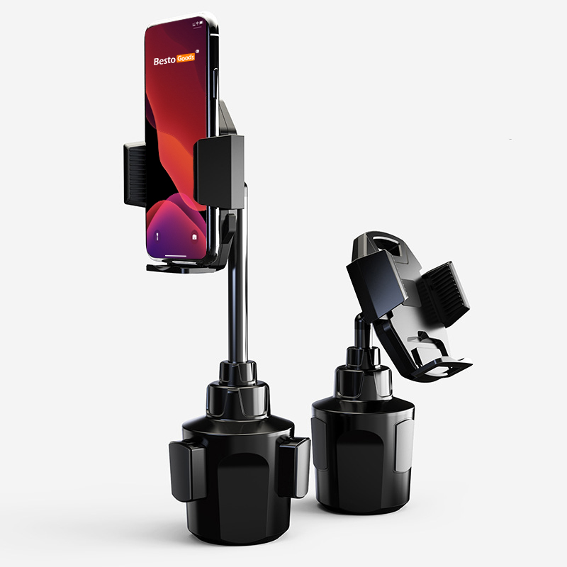 BestoGoods® 2020 Upgrade Adjustable Height Cup Holder Cell Phone Mount