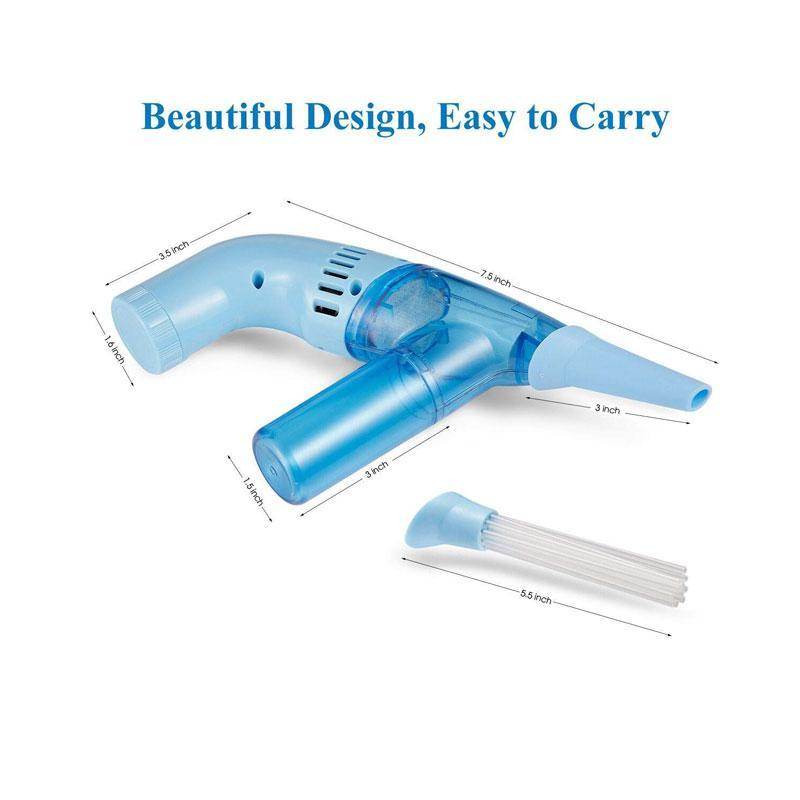 Handheld Flexible Battery Operated Cordless Duster Brush Vacuum Cleaner with 12 Tubes