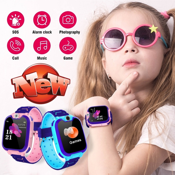 2019 New Q12B  Kids Smartwatch Phone Game Watches Waterproof Touch Screen Camera Watch With SOS Call For Boys Girls Children Gifts