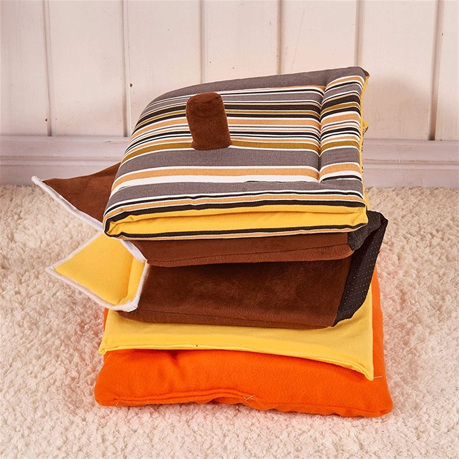 Fashion Striped Removable Cover & Pet House