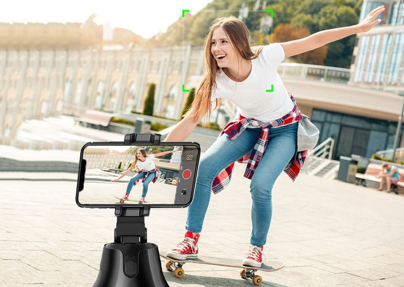 All-in-one Smart Auto Shooting Gimbal -  360° Rotation & Auto Object Tracking