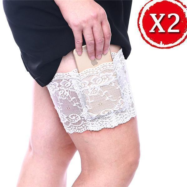 Anti Chafing Lace Thigh Garter隆陋隆陋Say Goodbye To Skin-To-Skin Chafing & Irritation