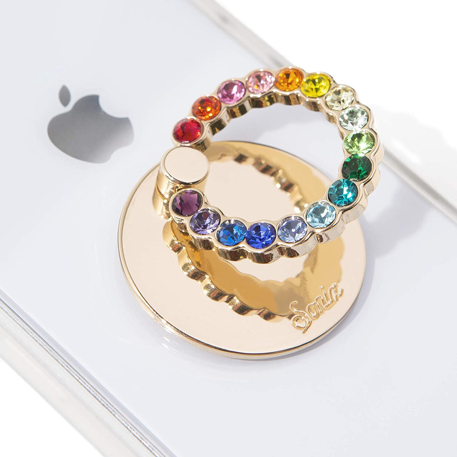 Embellished Crystal Rhinestone Phone Ring and Stand