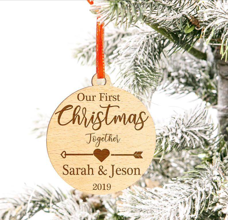 Personalized Christmas Gift,Christmas Ornament,Custom Christmas Ornament,Our First Christmas Gift,Couples Gift,Married Gift,Couples Ornament