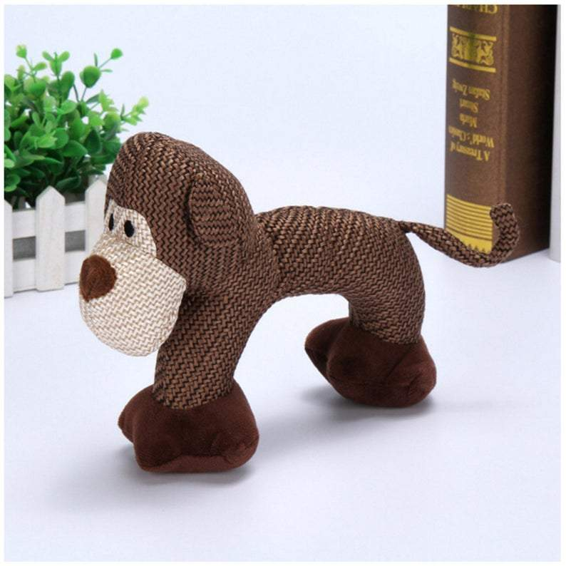 Wear-resistant and Tear-resistant Bite Vocal Pet Toy Plush Dog Toy Plush Sizzling Toy Pet Supplies Puppies with Doll
