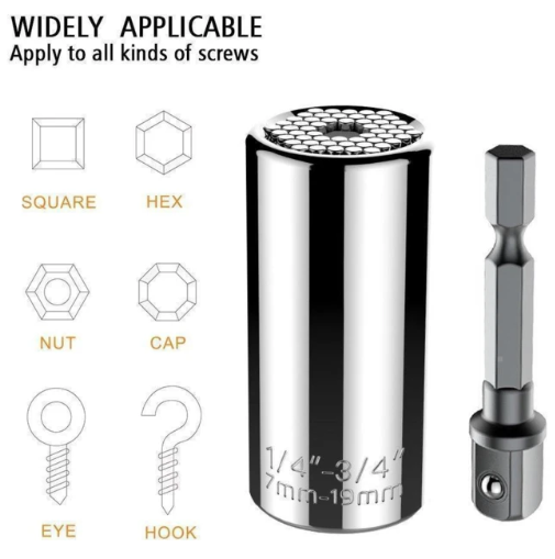 (Fits Metric 7-19mm) Multifunctional Screw Socket Drill Bit - Special-Shaped Screw Extractor