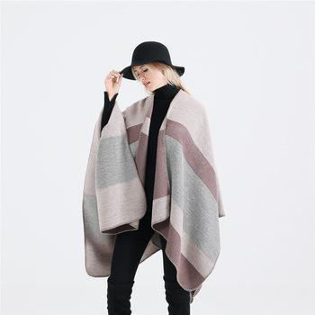 Hot Geometric Colour Matching Cashmere shawls for women winter pashmina scarf-1.9