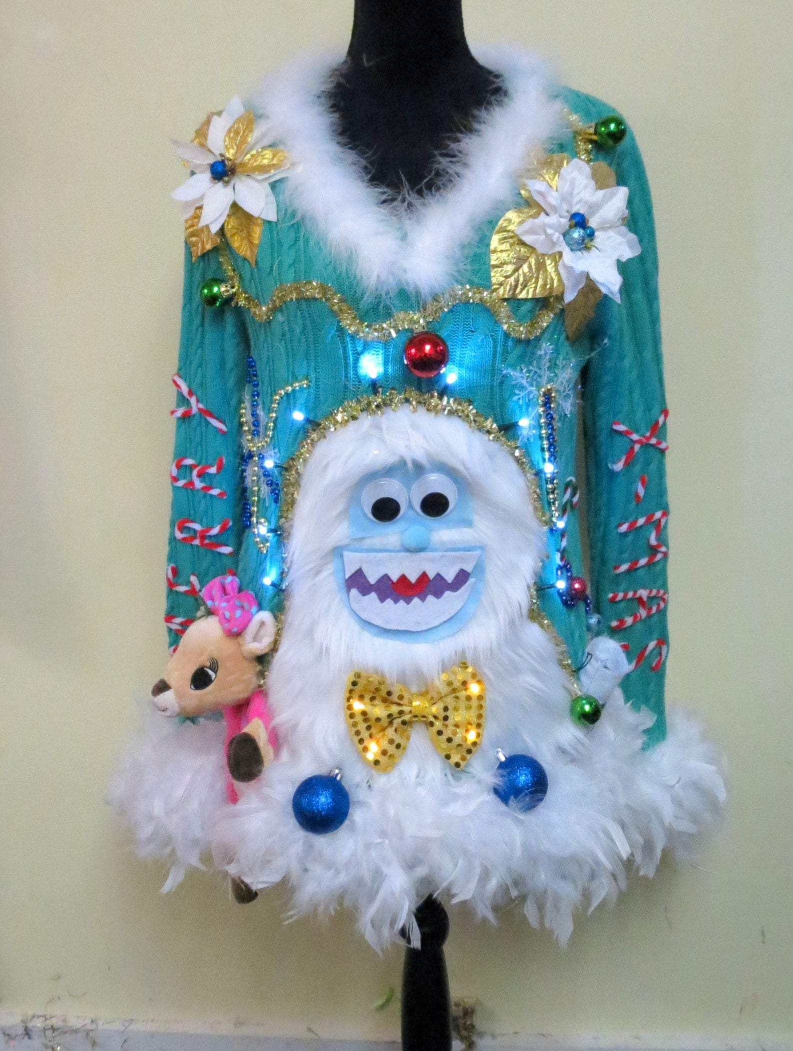 💥【40% OFF】2020 NEW Tacky Ugly Snowman Christmas Sweater👚