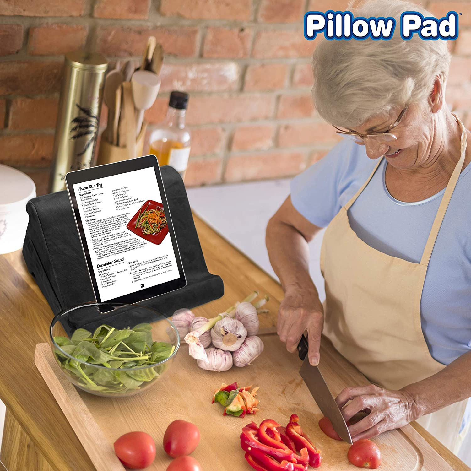 Black Friday Sale - Pillow Pad Multi-Angle Soft Tablet Stand - Blue