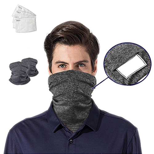 Anti-Dust Face Bandana Scarf  with Carbon Filters