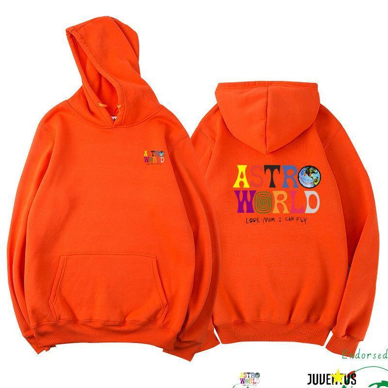 Travis Scott ASTROWORLD Look Mom I Can Fly Printed Hoodie