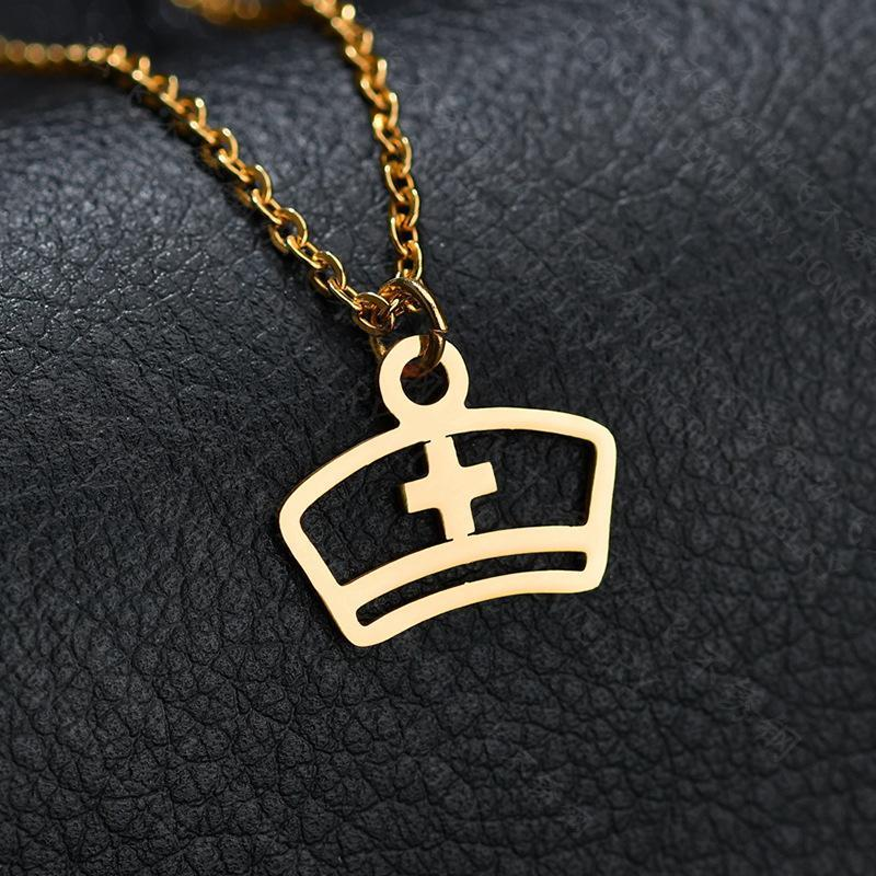 【99% of the proceeds went to The American Nurses Foundation】Nurse Hat Necklace/Cross Necklace