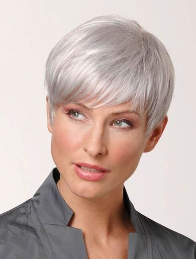 2020 Best Lace Front Wigs Grey Pixie Wig Grey Pixie Cut Fall Hair Colors Girls Purple Wig