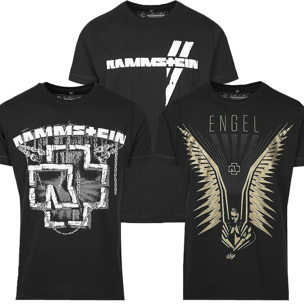 Men's Fashion 3D Print Merchcode Rammstein Herren T-Shirt Metal Tee Tops S-3XL