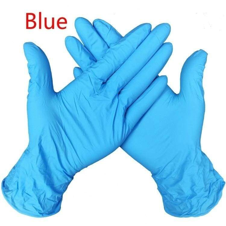 10/50pcs Industrial Gloves Kitchen Alkali Tattoo Nail Art Beauty Salon Industrial Auto Repair Gloves Disposable Nitrile Gloves Size S/M/L/XL