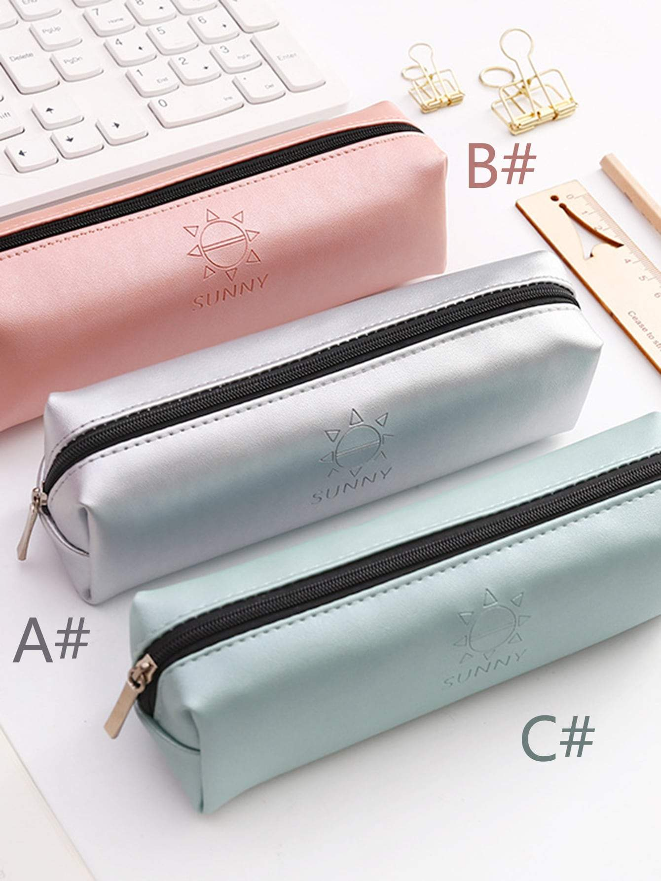 Sunny Print Zipper Pencil Case 1pc