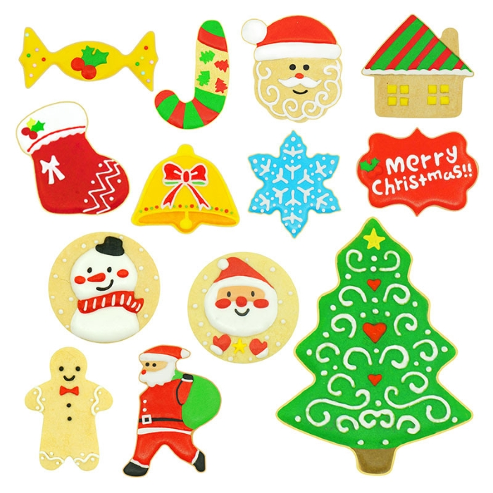 Christmas Cookie Cutter Set - 10Piece
