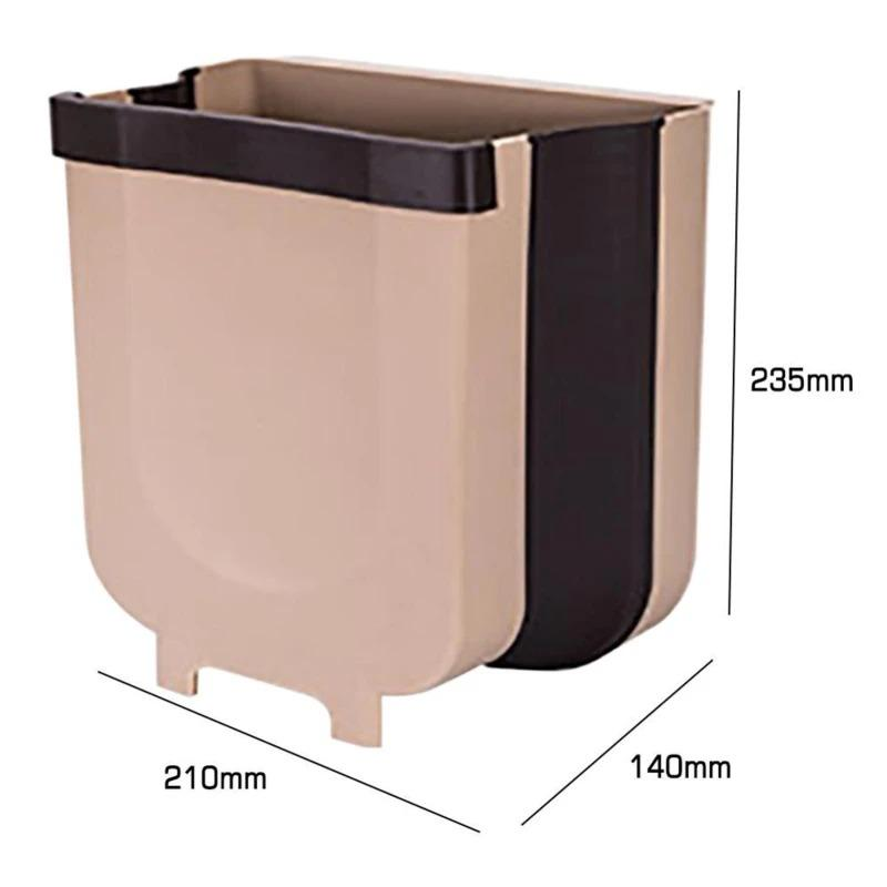 Household Car Wall-Mounted Folding Trash Can