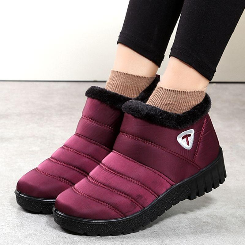Women Winter Shoes Waterproof Women Snow Boots Short boots Ankle boots Women Slippers