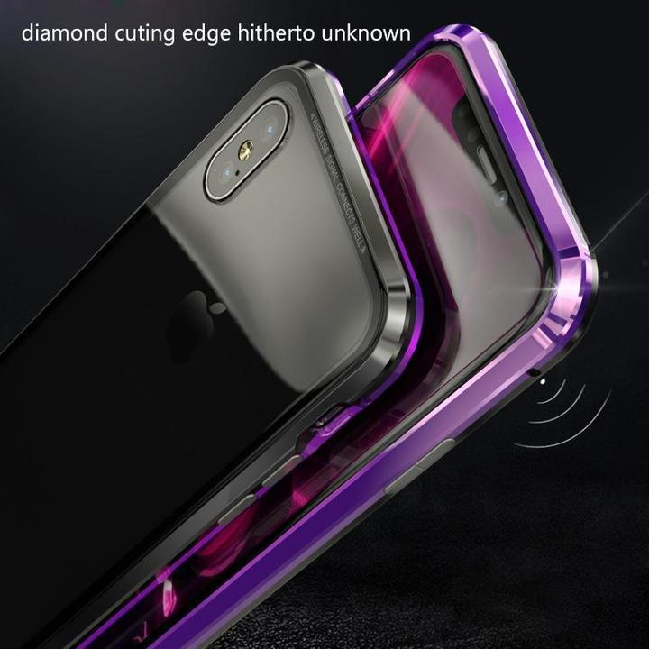 2019 NEW FASHION MAGNETIC ADSORPTION TRANSPARENT TEMPERED GLASS COVER PHONE CASE